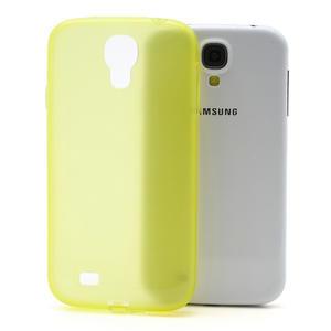 Gelové slim pouzdro na Samsung Galaxy S4 i9500- žluté - 1
