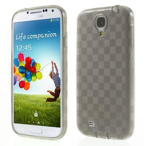 Gelové kosočvercové pouzdro na Samsung Galaxy S4 i9500- šedé - 1
