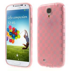 Gelpvé kosočvercové pouzdro na Samsung Galaxy S4 i9500- růžové - 1