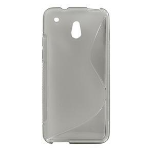 Gelové S-line pouzdro pro HTC one Mini M4- šedé - 1