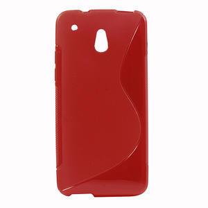Gelové S-line pouzdro pro HTC one Mini M4- červené - 1