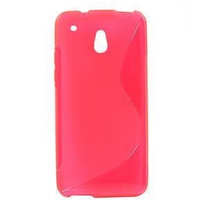 Gelové S-line pouzdro pro HTC one Mini M4- růžové - 1