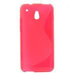 Gelové S-line pouzdro pro HTC one Mini M4- růžové - 1/3