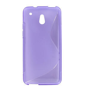 Gelové S-line pouzdro pro HTC one Mini M4-fialové - 1
