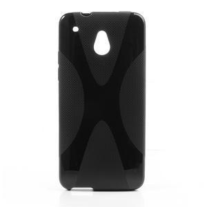 Gelové X-line pouzdro pro HTC one Mini M4- černé - 1