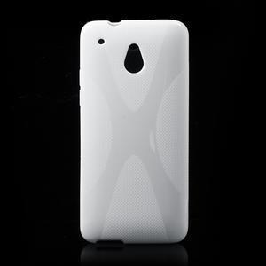 Gelové X-line pouzdro pro HTC one Mini M4- bílé - 1