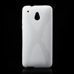 Gelové X-line pouzdro pro HTC one Mini M4- bílé - 1/4