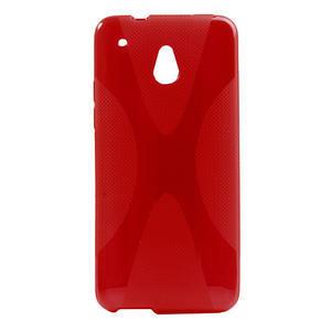 Gelové X-line pouzdro pro HTC one Mini M4- červené - 1