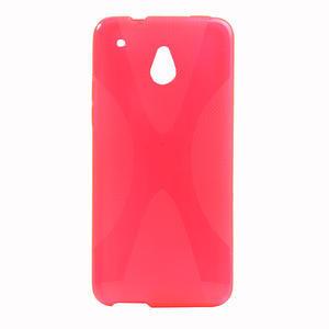 Gelové X-line pouzdro pro HTC one Mini M4- růžové - 1