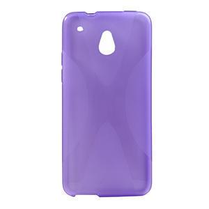 Gelové X-line pouzdro pro HTC one Mini M4- fialové - 1