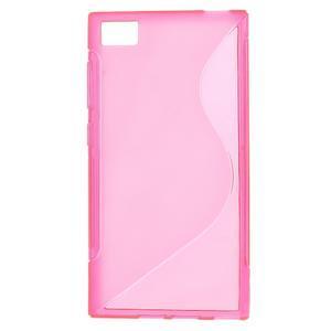 Gelové S-line pouzdro na Xiaomi Mi3- růžové - 1