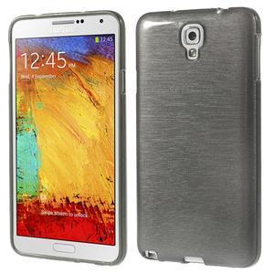 Gelové kartáčované pouzdro na Samsung Galaxy Note 3 Neo - černé - 1