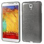 Gelové kartáčované pouzdro na Samsung Galaxy Note 3 Neo - černé - 1/5