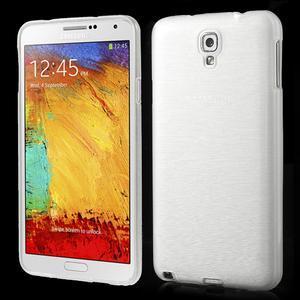 Gelové kartáčované pouzdro na Samsung Galaxy Note 3 Neo - bílé - 1