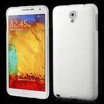 Gelové kartáčované pouzdro na Samsung Galaxy Note 3 Neo - bílé - 1/3