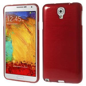 Gelové kartáčované pouzdro na Samsung Galaxy Note 3 Neo - červené - 1