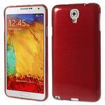 Gelové kartáčované pouzdro na Samsung Galaxy Note 3 Neo - červené - 1/3