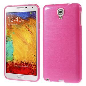 Gelové kartáčované pouzdro na Samsung Galaxy Note 3 Neo - růžové - 1