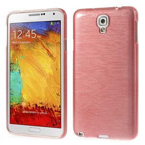 Gelové kartáčované pouzdro na Samsung Galaxy Note 3 Neo - světlerůžové - 1