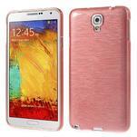 Gelové kartáčované pouzdro na Samsung Galaxy Note 3 Neo - světlerůžové - 1/3