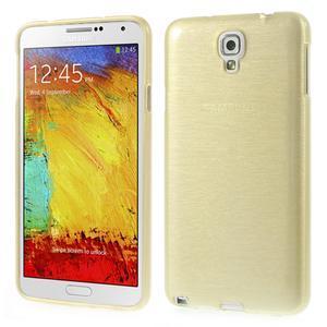 Gelové kartáčované pouzdro na Samsung Galaxy Note 3 Neo - zlaté - 1