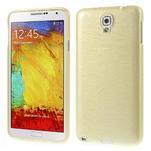 Gelové kartáčované pouzdro na Samsung Galaxy Note 3 Neo - zlaté - 1/3