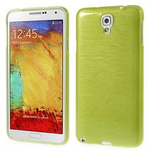 Gelové kartáčované pouzdro na Samsung Galaxy Note 3 Neo - zelené - 1