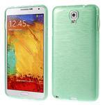Gelové kartáčované pouzdro na Samsung Galaxy Note 3 Neo - cyan - 1/4