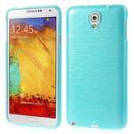 Gelové kartáčované pouzdro na Samsung Galaxy Note 3 Neo - modré - 1/5