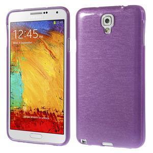 Gelové kartáčované pouzdro na Samsung Galaxy Note 3 Neo - fialové - 1
