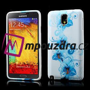 Gelové pouzdro na Samsung Galaxy Note 3- modrá lilie - 1