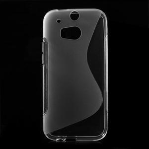 Gelové S-line pouzdro pro HTC one M8- transparentní - 1