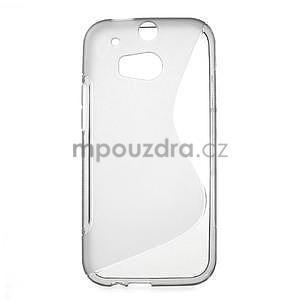 Gelové S-line pouzdro pro HTC one M8- šedé - 1