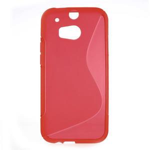Gelové S-line pouzdro pro HTC one M8- červené - 1