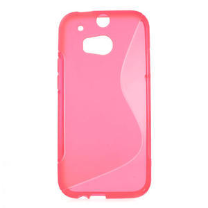 Gelové S-line pouzdro pro HTC one M8- růžové - 1