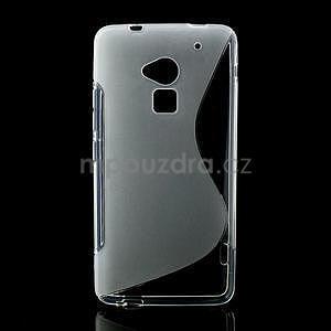 Gelové S-line pouzdro pro HTC one Max-transparentní - 1