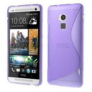 Gelové S-line pouzdro na HTC One Max- fialové - 1
