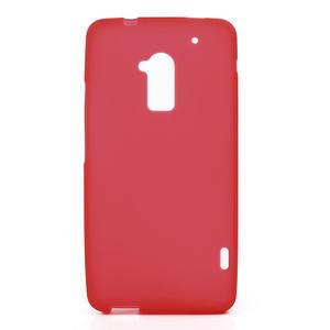 Gelové matné pouzdro pro HTC one Max- červená - 1