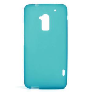 Gelové matné pouzdro pro HTC one Max- světlemodré - 1