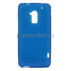 Gelové matné pouzdro pro HTC one Max- modré - 1