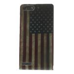 Gelové pouzdro na Huawei Ascend G6 - USA vlajka - 1/7