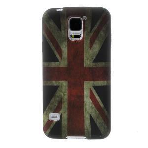 Gelové pouzdro na Samsung Galaxy S5- UK vlajka - 1