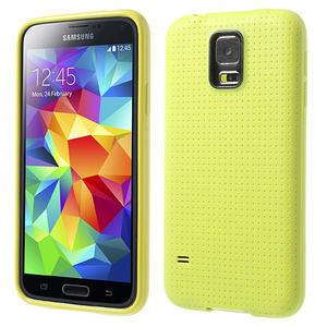 Gelové pouzdro na Samsung Galaxy S5- žluté - 1