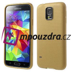 Gelové pouzdro na Samsung Galaxy S5- zlaté - 1