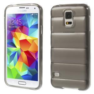 Gelové vesta pouzdro na Samsung Galaxy S5- šedé - 1
