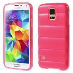 Gelové vesta pouzdro na Samsung Galaxy S5- růžové - 1/6