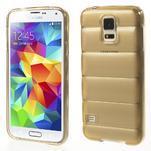 Gelové vesta pouzdro na Samsung Galaxy S5- zlaté - 1/6