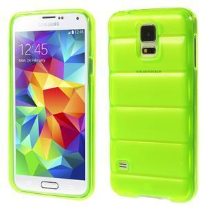 Gelové vesta pouzdro na Samsung Galaxy S5- zelené - 1