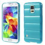 Gelové vesta pouzdro na Samsung Galaxy S5- modré - 1/6