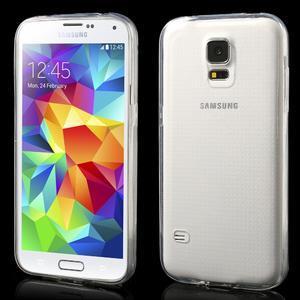 Gelové ultraslim pouzdro na Samsung Galaxy S5- transparentní - 1